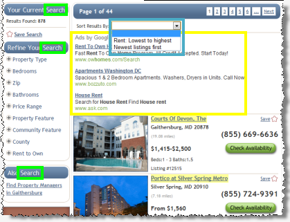 Advertising Disclosures in Online Apartment Search