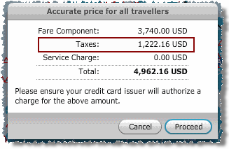 AA falsely claims the trip price includes 'Taxes' of $1222.16, when in fact $973 (79.5%) of this amount is carrier-imposed fees not required by any government or similar authority