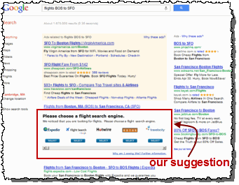 Our suggested remedy for Google favoring its own vertical search services: Let users choose from competing offerings