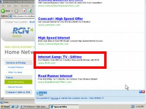 WhenU covers RCN with its own Google ads -- charging ad fees for traffic RCN would otherwise have received for free.