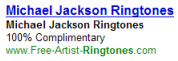 An example misleading ad, falsely claiming ringtones are