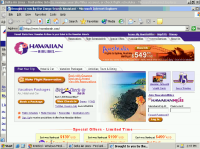 180 covering Delta.com with Hawaiian Airlines web site