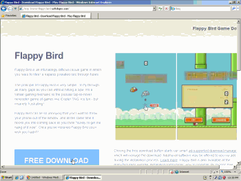 Softdlspro claims to offer a 'Flappy Birds Game Download.' The bundle provides myriad adware including Blinkx adware, but no Flappy Birds.