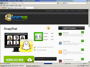 Soft1d claims to offer a Snapchat download. The bundle actually provides myriad adware but no Snapchat app.