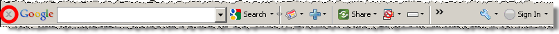 Google Toolbar features an