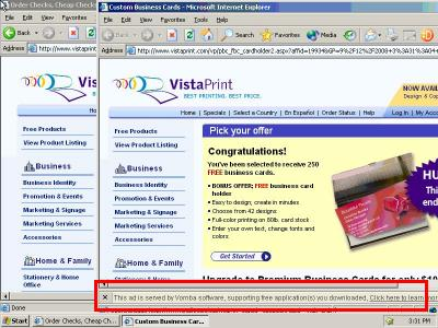 Vomba, Lynxtrack Affiliate 19334 Targeting VistaPrint