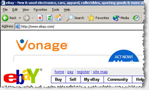 A Vonage Ad Injected by SearchingBooth