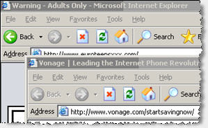 A Vonage Ad Shown by Targetsaver