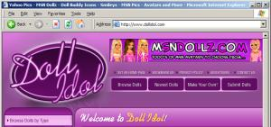The Doll Idol site, which encourages users to install 180 software without a frank disclosure of 180's true effects.